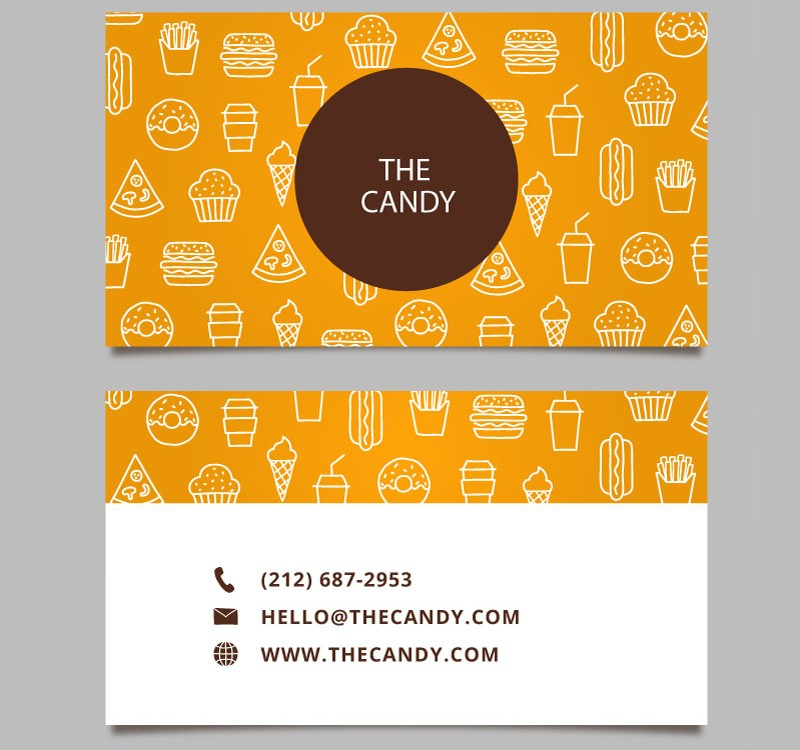 Business Cards For Candy Store Images - Card Design And Card Template
